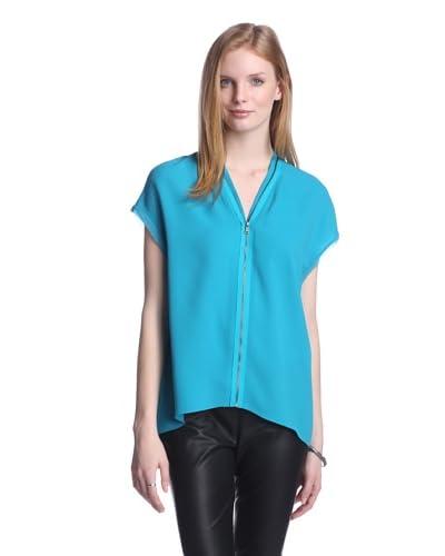 T Tahari Women's Sisley Zipper Top