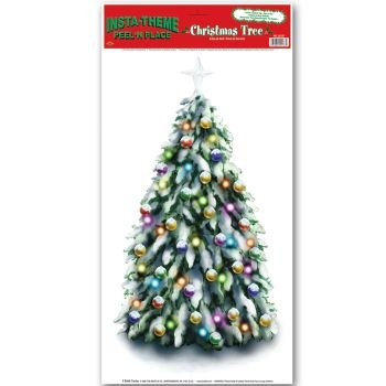 Christmas Tree Peel 'N Place Party Accessory (1 count) (1/Sh)