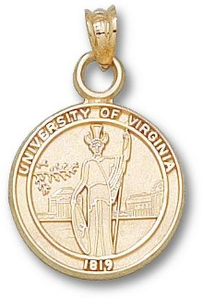 Virginia Cavaliers Seal Pendant - 14KT Gold Jewelry by Logo Art