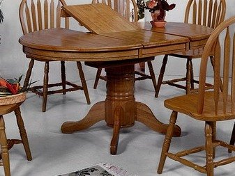 Furniture dining room furniture table round for Round table with butterfly leaf