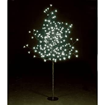 Led baum mit 200 lampen outdoor h 150 cm weiss amazon for Lampen 150 cm