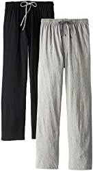 Hanes Men's Solid Knit Jersey Pajama Pant (Pack of 2)