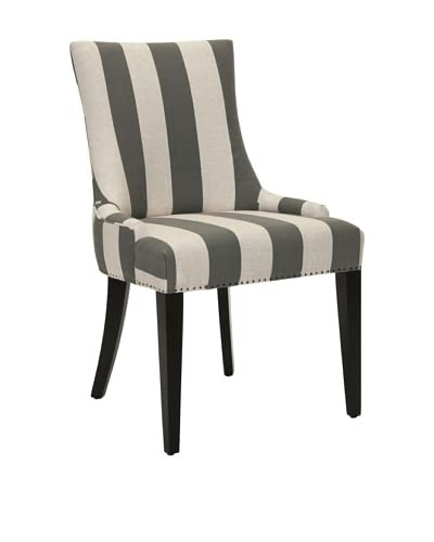 Safavieh Becca Dining Chair, Grey/Bone Stripe