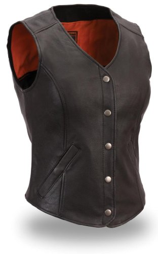 First Manufacturing Women's Extremely Stylish Longer Length Vest (Black, Small)