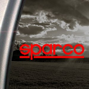 SPARCO Red Decal Drift Car Truck Bumper Window Red Sticker