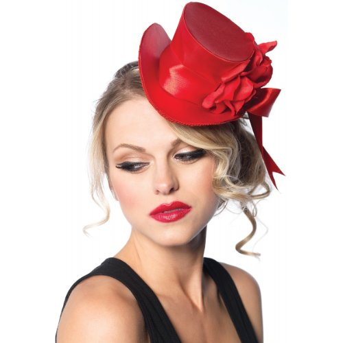 Satin Mini Top Hat in Black, Red or White Costume Accessory
