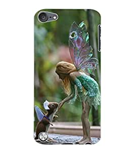ColourCraft Angel and Friend Design Back Case Cover for APPLE IPOD TOUCH 5