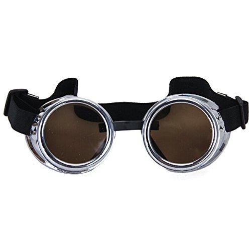 VORCOOL Cyber rustico Vintage occhiali Steampunk saldatura Goth Cosplay foto Prop