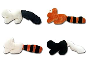 ANIMAL TAILS Plush Dog Toys - 4 Pack