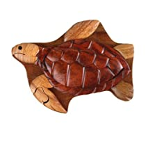Sea Turtle - Secret Handcrafted Wooden Puzzle Box