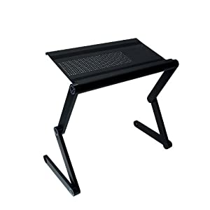 """Adjustable VENTED Laptop Table Laptop Laidback Computer Desk Portable Bed Tray Book Stand Multifuctional & Ergonomics design dual layer tabletop up to 17"""""""