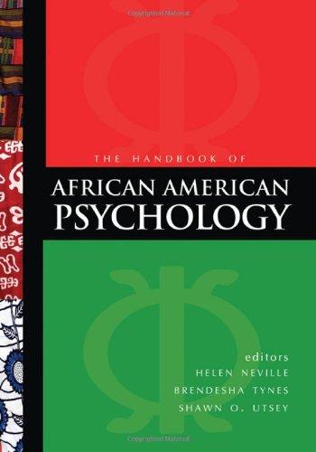 Handbook of African American Psychology