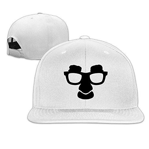 Custom Unisex-Adult Cool Glasses Flat Brim Trucker Cap Hat White (Outdoor Man Cricut Cartridge compare prices)
