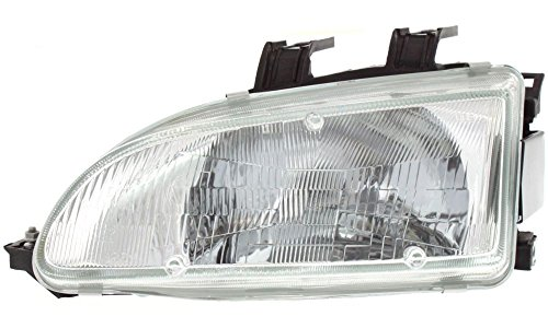 Evan-Fischer EVA13572013909 New Direct Fit Headlight Head Lamp for CIVIC 92-95 LH Assembly Halogen With Bulb(s) Driver Side Replaces Partslink# HO2502103 (Honda Civic 92 95 Headlights compare prices)
