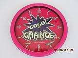 Malabarista GOGO! OPORTUNIDAD fosforescente reloj de pared de color rosa