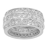 6.00 ct. TW Princess and Round Diamond Large Eternity Wedding Band in 14k