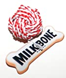 Milk-Bone Dog Toy, Small Braided Rope Ball Chew Toy (1 Toy)
