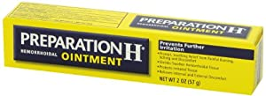 Preparation H Hemorrhoidal Ointment (2 Ounce Tube, Pack of 2)