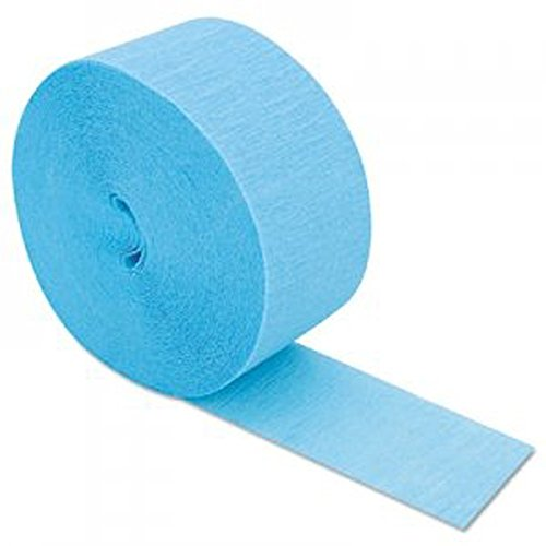 """Mylife Bright Electric Blue - Crepe Paper Roll Streamer """"Decoration And Craft Supply"""" 81 Feet / 24.7 Meters (Great For Table Decorations)"""