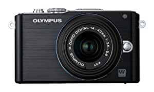 Olympus PEN E-PL3 Systemkamera (12 Megapixel, 7,6 cm (3 Zoll) Display, bildstabilisiert) schwarz Kit mit 14-42mm Objektiv schwarz