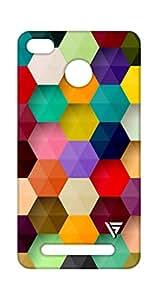 Vogueshell Multi Colour Pattern Printed Symmetry PRO Series Hard Back Case for xiaomi Redmi 3s