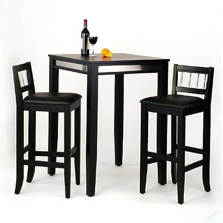 3-Piece Manhattan Pub Table and Stools Set