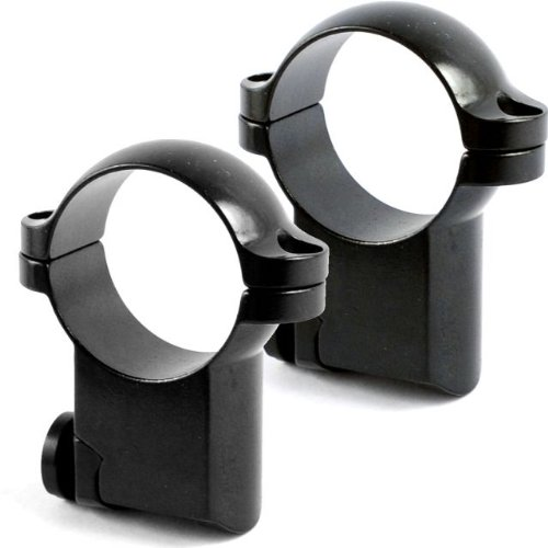 Leupold Riflescope Mount Rings, 1In, Ruger #1 & 77/22, High, Gloss Black 50216