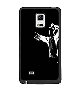 PrintDhaba Michael Jackson D-4286 Back Case Cover for SAMSUNG GALAXY NOTE 4 (Multi-Coloured)