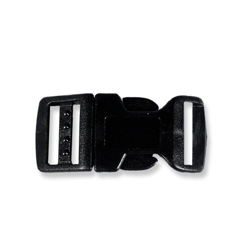 "Paracord Planet® Brand Contoured Side Release Black Buckle - 5/8"" 10 Pack"