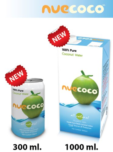 Nuecoco 100% Pure Coconut Water 300ml (Pack of 24)