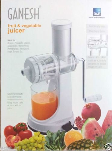 NEW Ganesh Fruit & Vegetable Juicer | Fruit Juicer | With Still Handle | hand juice (Vegetable Cooler compare prices)