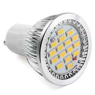 Gu10 8W 16X5630Smd 640-720Lm 3000-3500K Warm White Led Light Projector (220V)