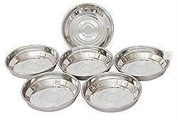 HAZEL Designer Steel Plates / Dishes - 6 Pcs Set - 11 cm Small - B Halwa S5.5