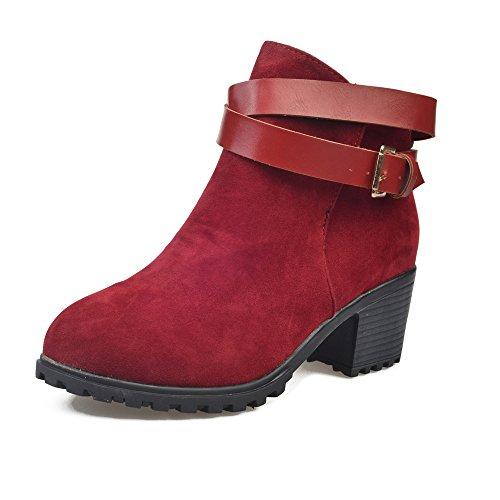 Tefamore Stivali Da Neve, Donne Tacco Alta Cinghia Fibbia Inverno Caloroso Caviglia Scarpe