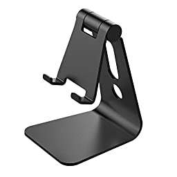 Nulaxy Multi-Angle Aerospace Aluminum Universal Phone Stand, Black