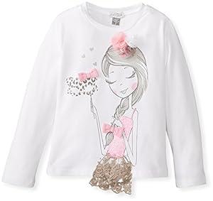 Petit Lem Little Girls' Miss Masquerade Long Sleeve Knit Top, White, 6