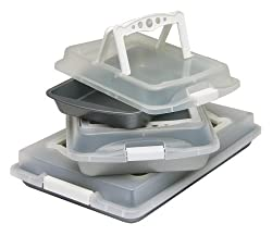 OvenStuff Non-Stick Six Piece Covered with Handles Bakeware Set - White