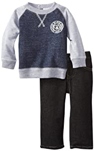 Calvin Klein Baby-Infant Blue-Gray Top With Jeans