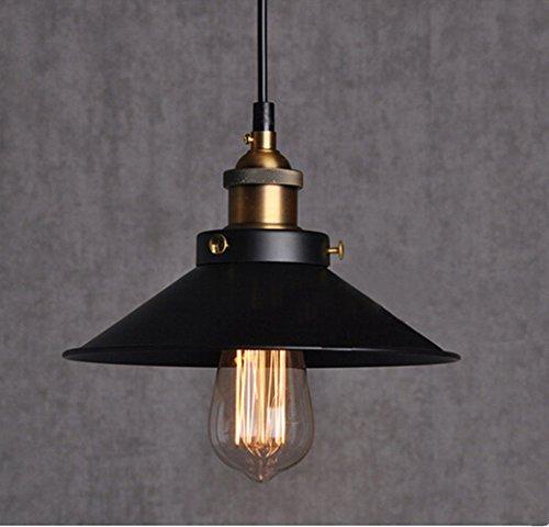 Vintage-Retro-Edison-Loft-Pendelleuchte-Retro-Industrielle-Deckenleuchte-Lackiertem-Eisen-Regenschirm-Lampenschirm-Land-Art-Lampe