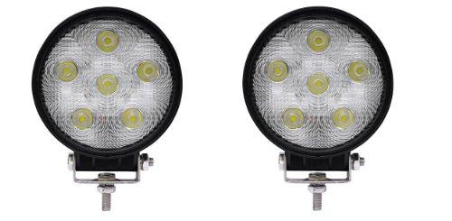 2pcs 18W LED Work Light Lamp ATV Heavy Duty Boat Truck Jeep Offroad 4x4 Trailer Ranger 12V FLOOD Light