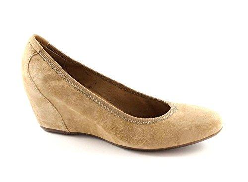 FRAU 71C5 camel scarpe donna decolletè zeppa elasticizzata 38