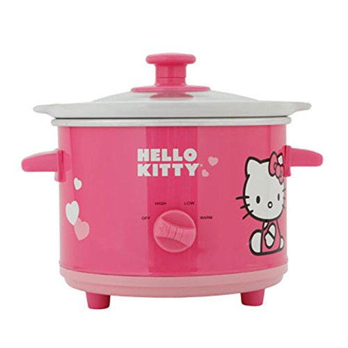 Hello-Kitty-APP-41209-15-Qt-Ceramic-Slow-Cooker-Pink-White-Home-Garden