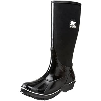 Sorel Women's Sorellington Canvas NL1620 Rain Boot, Black