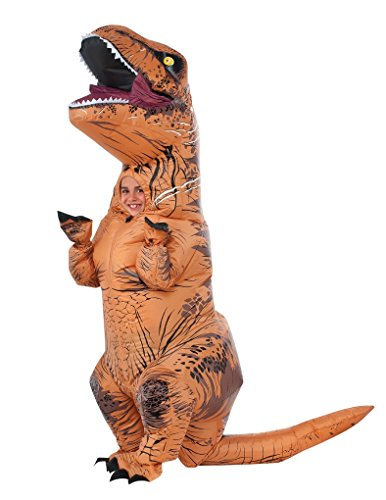 Child size Kids T Rex Inflatable Costume - Jurassic World - 8-10