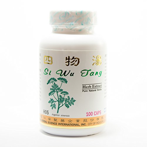 Four Herbs Formula For Women Dietary Supplement 500Mg 100 Capsules (Si Wu Tang) 100% Natural Herbs
