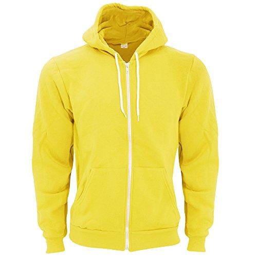 american-apparel-unisex-flex-plain-full-zip-fleece-hoodie-m-sunshine