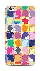 Amez designer printed 3d premium high quality back case cover for Apple iPhone 6s Plus (My little pony twilight sparkle pinkie pie rainbow dash)
