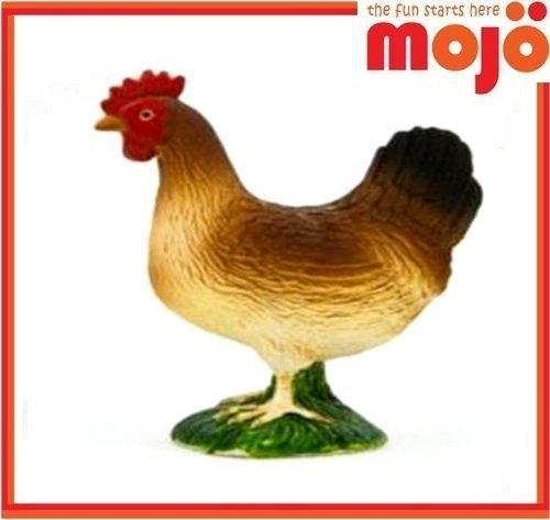 Mojo Fun 387052 Colorful Hen - Realistic Barnyard Farm Chicken