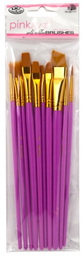 royal-langnickel-pink-art-golden-taklon-brush-set-pack-of-10