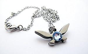 "Zelda Navi Necklace - Stainless Steel - Handmade - Length 18"""